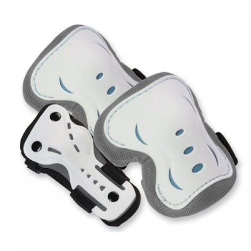 Защита SFR для локтей, коленей и запястий на липучке, белая