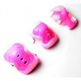 Защита SPORT SERIES для локтей, коленей и запястий на липучке, розовая
