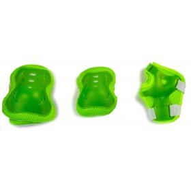 Защита SPORT SERIES для локтей, коленей и запястий на липучке, зеленая
