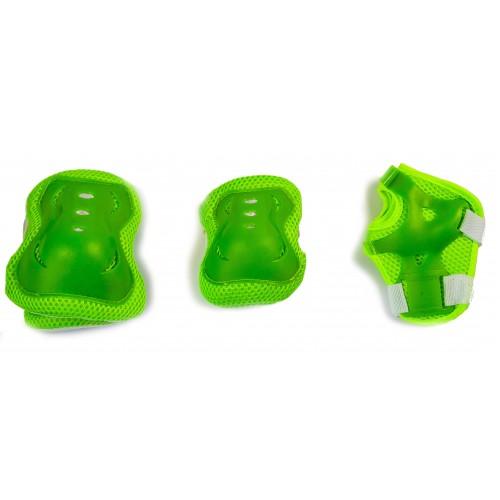 Захист SPORT SERIES для ліктів, колін і зап'ясть на липучці, зелений