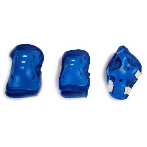 Защита SPORT SERIES для локтей, коленей и запястий на липучке, синяя