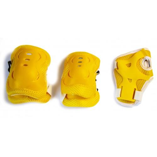 Захист SPORT SERIES для ліктів, колін і зап'ясть на липучці, жовтий