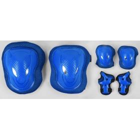 Защита при катании, комплект TK Sport, наколенники, налокотники, защита на запястья на липучках, синяя